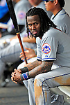 1 March 2011: New York Mets' infielder Jose Reyes sits in the dugout during a Spring Training game against the Washington Nationals at Space Coast Stadium in Viera, Florida. The Nationals defeated the Mets 5-3 in Grapefruit League action. Mandatory Credit: Ed Wolfstein Photo