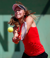 JOHANNA LARSSON (SWE)..Tennis - Grand Slam - French Open- Roland Garros - Paris - Sat May 26th 2012..© AMN Images, 30, Cleveland Street, London, W1T 4JD.Tel - +44 20 7907 6387.mfrey@advantagemedianet.com.www.amnimages.photoshelter.com.www.advantagemedianet.com.www.tennishead.net