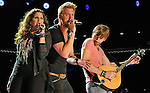 NASHVILLE, TN - JUNE 07:  Hillary Scott, Charles Kelley, and Dave Haywood of Lady Antebellum performs during the 2012 CMA Music Festival on June 7, 2012 in Nashville, Tennessee.  (Photo by Frederick Breedon IV/WireImage) *** Local Caption *** Charles Kelley; Hillary Scott; Dave Haywood