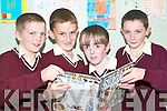 Readers: Pupils of St Scoil Pio Naofe in Ballybunion who took part in the .Reading Challenge and received their awards at St Joseph's on Thursday .Kieran Johnson, Ryan O'Connor, Michael Bunyam and Sean Mulvihill.   Copyright Kerry's Eye 2008