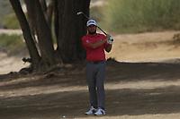 Tyrrell Hatton (ENG) in the rough on the 3rd during Round 2 of the Omega Dubai Desert Classic, Emirates Golf Club, Dubai,  United Arab Emirates. 25/01/2019<br /> Picture: Golffile | Thos Caffrey<br /> <br /> <br /> All photo usage must carry mandatory copyright credit (© Golffile | Thos Caffrey)