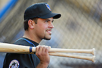 Mike Piazza In a baseball game played in Los Angeles which the Dodgers beat the Mets 3-2 in 13 innings