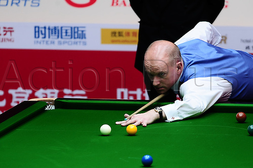 Apr 01, 2011; Beijing, CHINA; Judd Trump defeats Peter Ebdon 5:1 in a quarterfinal match at the Bank of Beijing 2011 World Snooker China Open.