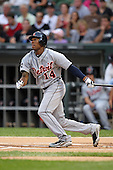 Detroit TIgers outfielder Austin Jackson (14) during a game vs. the Chicago White Sox at U.S. Cellular Field in Chicago, Illinois August 13, 2010.   Chicago defeated Detroit 8-4.  Photo By Mike Janes/Four Seam Images