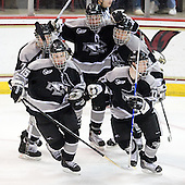 Kyle MacKinnon (Providence - 15), Eric Baier (Providence - 7), Tim Schaller (Providence - 11), David Cavanagh (Providence - 2), Matt Bergland (Providence - 17) - The Boston College Eagles defeated the Providence College Friars 4-1 on Tuesday, January 12, 2010, at Conte Forum in Chestnut Hill, Massachusetts.