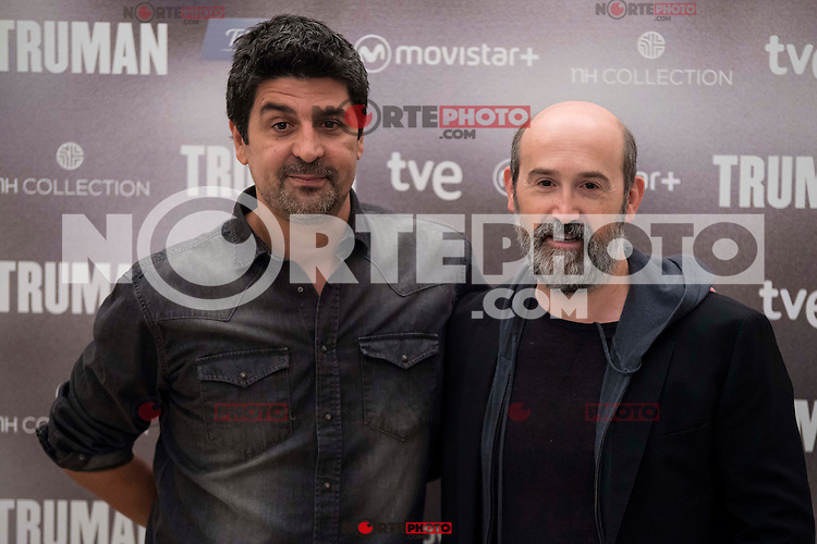 "Spanish director Cesc Gay and spanish actor Javier Camara during the presentation of the film ""Truman"" at NH Tepa´s Palace in Madrid October 26, 2015. <br /> (ALTERPHOTOS/BorjaB.Hojas) /NortePhoto"