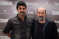 Spanish director Cesc Gay and spanish actor Javier Camara during the presentation of the film &quot;Truman&quot; at NH Tepa&acute;s Palace in Madrid October 26, 2015. <br /> (ALTERPHOTOS/BorjaB.Hojas) /NortePhoto