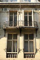Jules Lavirotte: Rue Sedillot, Paris. Detail of windows.