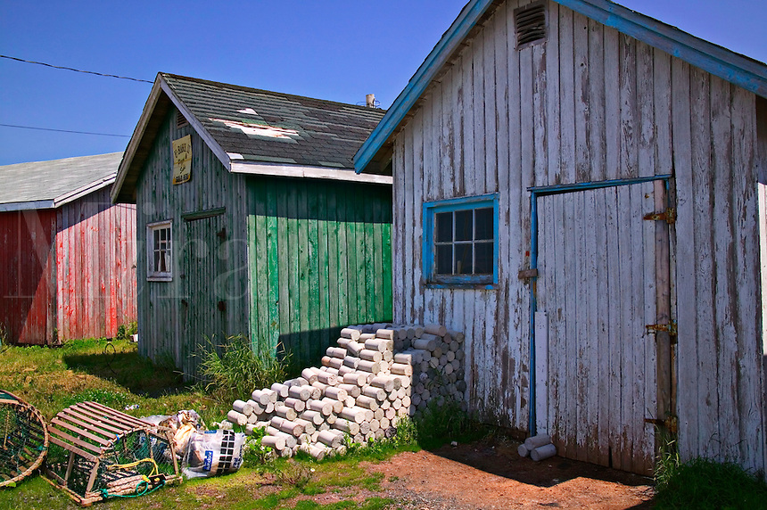 Fishing shacks, Prince Edward Island, Nova Scotia, Canada