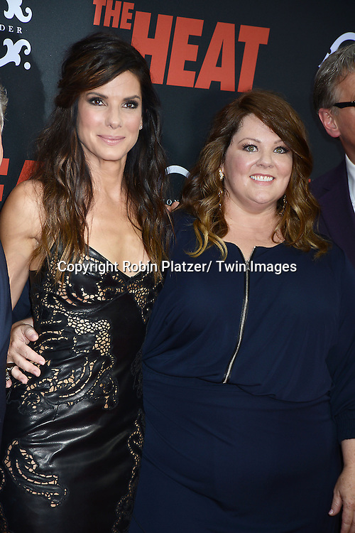 Sandra Bullock and Melissa McCarthy attends the New York Premiere of &quot;The Heat&quot; on June 23,2013 at the Ziegfeld Theatre in New York City. The movie stars Sandra Bullock, Melissa McCarthy, Demian Bichir, Marlon Wayans, Joey McIntyre, Jessica Chaffin, Jamie Denbo, Nate Corddry, Steve Bannos, Spoken Reasons and Adam Ray. <br /> Sandra Bullock and Melissa McCarthy and the cast attend the New York Premiere of &quot;The Heat&quot; on June 23,2013 at the Ziegfeld Theatre in New York City. The movie stars Sandra Bullock, Melissa McCarthy, Demian Bichir, Marlon Wayans, Joey McIntyre, Jessica Chaffin, Jamie Denbo, Nate Corddry, Steve Bannos, Spoken Reasons and Adam Ray.