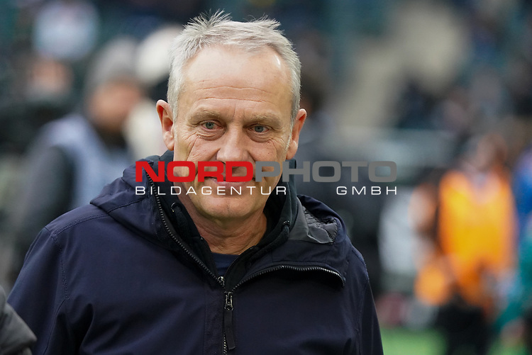 01.12.2019, Borussia Park , Moenchengladbach, GER, 1. FBL,  Borussia Moenchengladbach vs. SC Freiburg,<br />  <br /> DFL regulations prohibit any use of photographs as image sequences and/or quasi-video<br /> <br /> im Bild / picture shows: <br /> Christian Streich Trainer/Headcoach (SC Freiburg), <br /> <br /> Foto © nordphoto / Meuter
