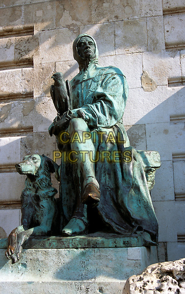 Castle and Palace complex, Saint George?s Square, Castle Hill, Budapest, Hungary. King Matyas (Matthias) Fountain statue
