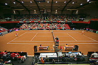 The Netherlands, Den Bosch, 20.04.2014. Fed Cup Netherlands-Japan, Overall view<br /> Photo:Tennisimages/Henk Koster