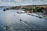 Teams sailing through the Göta Canal heading towards the final of the Volvo Ocean Race Leg 9 Lorient - Gothenburg on June 22, 2015 in Gothenburg, Sweden. Photo by Victor Fraile / Power Sport Images
