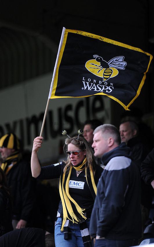 Photo: Tony Oudot/Richard Lane Photography. London Wasps v Newcastle Falcons. Aviva Premiership. 05/05/2012. .Wasps  fans.