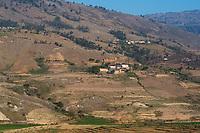Africa, Madagascar, Fianarantsoa, surrounding hills.