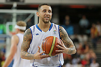 GB's Benjamin Mockford during the EuroBasket 2015 2nd Qualifying Round Great Britain v Bosnia & Herzegovina (Euro Basket 2nd Qualifying Round) at Copper Box Arena in London. - 13/08/2014