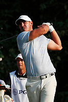 Brooks Koepka (USA) tees off on the 18th hole during the third round of the 100th PGA Championship at Bellerive Country Club, St. Louis, Missouri, USA. 8/11/2018.<br /> Picture: Golffile.ie | Brian Spurlock<br /> <br /> All photo usage must carry mandatory copyright credit (&copy; Golffile | Brian Spurlock)