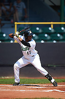 Clinton LumberKings outfielder Gianfranco Wawoe (13) at bat during a game against the Great Lakes Loons on August 16, 2015 at Ashford University Field in Clinton, Iowa.  Great Lakes defeated Clinton 3-2.  (Mike Janes/Four Seam Images)