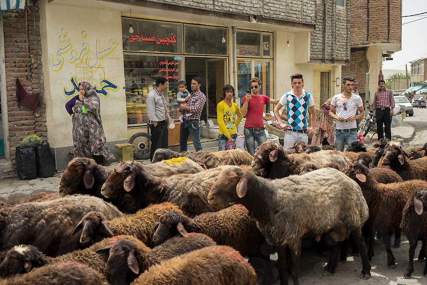 June 08, 2014 - Tabriz, Iran. Locals take photographs using their smartphones. Despite slow mobile internet connections, Iran has seen a considerable increase of consumers purchasing smartphones. © Thomas Cristofoletti / Ruom