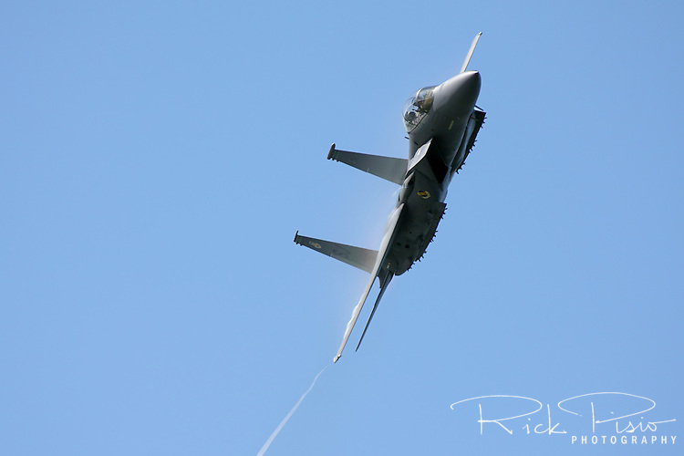 U.S. Air Force F-15 Eagle in flight.