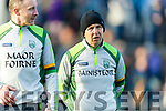 Tommy Griffin Selector and Kerry Manager Peter Keane at the Munster Minor Quarter Final at Austin Stack Park Tralee on Wednesday night.