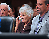 Washington, DC - July 13, 2009 -- Celina Sotomayor, mother of Judge Sonia Sotomayor, wipes a tear as her daughter begins her opening statement before United States Senate Judiciary Committee considering Judge Sotomayor's nomination as Associate Justice of the U.S. Supreme Court on Monday, July 13, 2009..Credit: Ron Sachs / CNP
