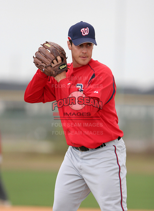 Washington Nationals minor leaguer Jim Magrane during Spring Training at the Carl Barger Training Complex on March 19, 2007 in Melbourne, Florida.  (Mike Janes/Four Seam Images)