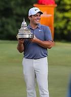 Potomac, MD - July 1, 2018:  Francesco Molinari wins the Quicken Loans National Tournament at TPC Potomac  in Potomac, MD, July 1, 2018.  (Photo by Elliott Brown/Media Images International)