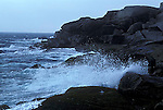 Crashing waves at Prospect, Cape Breton Island, Nova Scotia, Canada