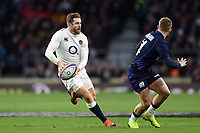 Elliot Daly of England in possession. Guinness Six Nations match between England and Scotland on March 16, 2019 at Twickenham Stadium in London, England. Photo by: Patrick Khachfe / Onside Images
