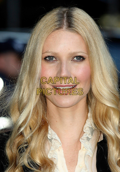 GWYNETH PALTROW.At ''The Late Show with David Letterman'' at the Ed Sullivan Theatre in.New York City..September 7th, 2005 .headshot portrait white ruffled collar  roots hair.www.capitalpictures.com.sales@capitalpictures.com.©Capital Pictures