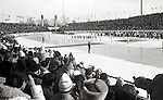 February 3, 1972, Sapporo, Japan - The opening ceremonies of the Winter Olympic Games in the Makomanai Stadium in Sapporo. (Photo by Haruyoshi Yamaguchi/AFLO)