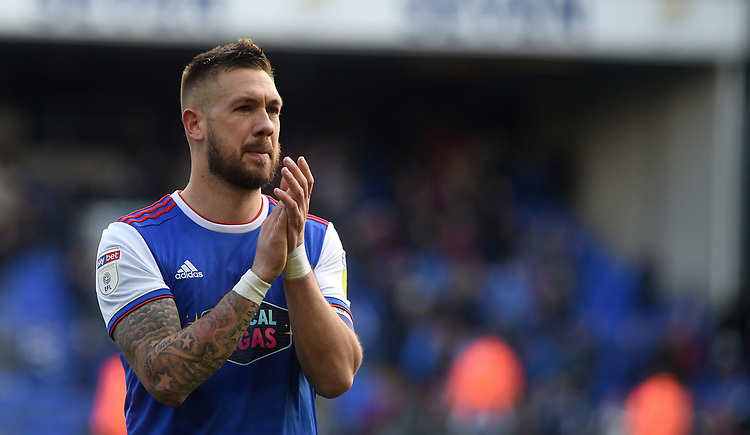 Ipswich Town's Luke Chambers in tears<br /> <br /> Photographer Hannah Fountain/CameraSport<br /> <br /> The EFL Sky Bet Championship - Ipswich Town v Birmingham City - Saturday 13th April 2019 - Portman Road - Ipswich<br /> <br /> World Copyright © 2019 CameraSport. All rights reserved. 43 Linden Ave. Countesthorpe. Leicester. England. LE8 5PG - Tel: +44 (0) 116 277 4147 - admin@camerasport.com - www.camerasport.com