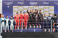 #26 G-DRIVE RACING (RUS) AURUS 01 GIBSON LMP2 ROMAN RUSINOV (RUS) JOB VAN UITERT (NLD) NORMAN NATO (FRA) WINNER OVERALL<br /> #28 IDEC SPORT (FRA) ORECA 07 GIBSON LMP2 PAUL LAFARGUE (FRA) PAUL LOUP CHATIN (FRA) MEMO ROJAS (MEX) SECOND OVERALL<br /> #32 UNITED AUTOSPORTS (GBR) LIGIER JSP217 GIBSON LMP2 RYAN CULLEN (GBR) ALEX BRUNDLE (GBR) WILLIAM OWEN (GBR) THIRD OVERALL