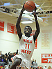 Gaethan Fils-Aime #11 of Half Hollow Hills West goes up for a slam dunk during the second quarter of a Suffolk County varsity boys basketball game against Deer park at Half Hollow Hills West High School on Thursday, Jan. 19, 2017. Deer Park won by a score of 59-49.