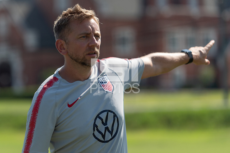 Rome, GA - Friday, June 21, 2019:  Stuart Sharp during a Para 7 USMNT training session.