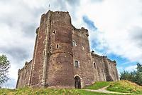 A scenic view of Doune Castle in Scotland