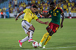 Radamel Falcao of Colombia and Guihoata of Camerun during the friendly match between Camerun and Colombia in Madrid, Spain 13 jun 2017.(ALTERPHOTOS/Rodrigo Jimenez)