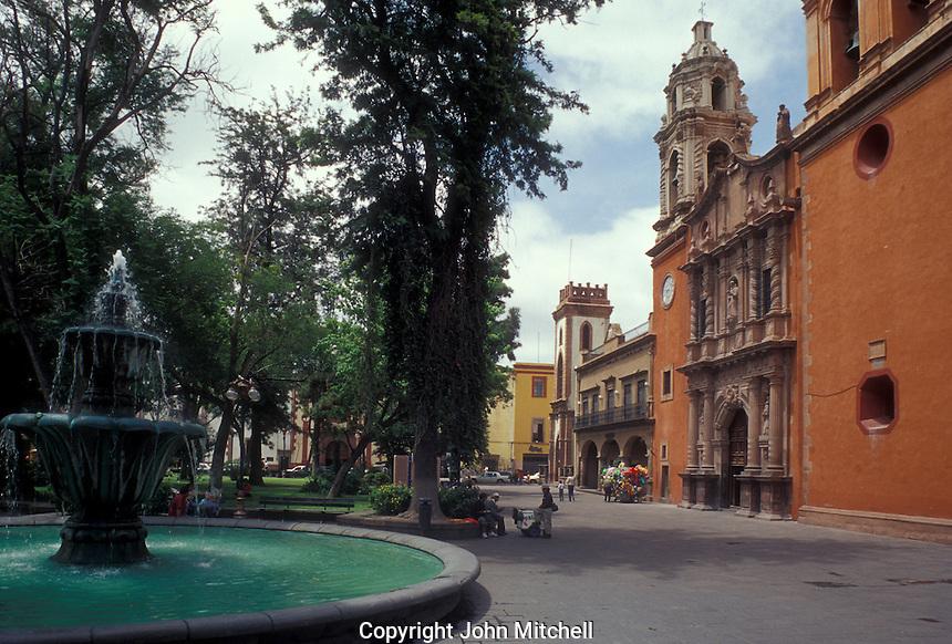 The Plaza San Francisco in the city of San Luis Potosi, Mexico
