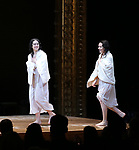 Adina Verson and Katrina Lenk during the Broadway Opening Night Performance Curtain Call Bows for  'Indecent' at The Cort Theatre on April 18, 2017 in New York City.