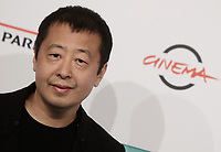 Il regista cinese Jia Zhangke posa durante un photocall alla 14^ Festa del Cinema di Roma all'Aufditorium Parco della Musica di Roma, 26 ottobre 2019.<br /> Chinese director Jia Zhangke poses for a photocall  during the 14^ Rome Film Fest at Rome's Auditorium, on 26 October 2019.<br /> UPDATE IMAGES PRESS/Isabella Bonotto
