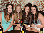 Joanna Mullen, Nicole Hewitt, Clodagh McGrane and Naomi Campbell pictured at Lyndsey Reilly's 18th birthday in the Trinity Arms. Photo:Colin Bell/pressphotos.ie