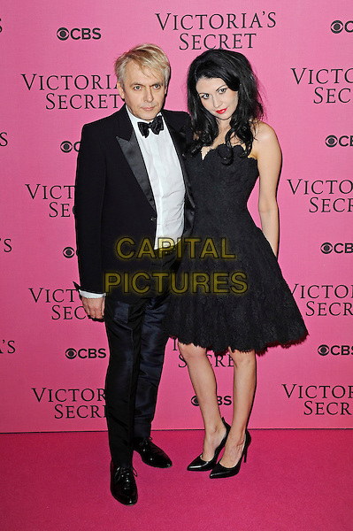 LONDON, ENGLAND - DECEMBER 2: Nick Rhodes and Maria Suvio attend the pink carpet for Victoria's Secret Fashion Show 2014, Earls Court on December 2, 2014 in London, England.<br /> CAP/MAR<br /> &copy; Martin Harris/Capital Pictures