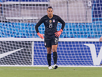 , FL - : Adrianna Franch #21 of the United States stands in goal during a game between  at  on ,  in , Florida.