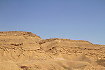 Israel, Negev, the Small Fin at the Hatira ridge, the Large Crater