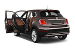 Car images close up view of a 2015 Fiat 500X Lounge 5 Door SUV doors