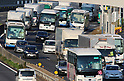 Bon holiday traffic in Japan