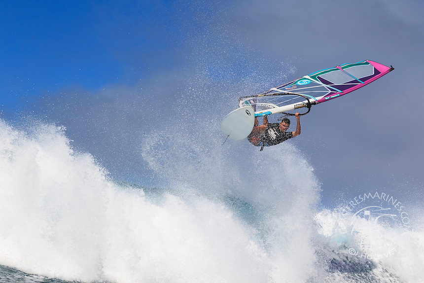 Nat Gil at the 6th and final stop of the 2012 American Windsurfing Tour (AWT), in Ho'okipa Beach Park (Maui, Hawaii, USA)