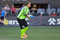 Portland, OR - Wednesday June 28, 2017: Nicole Barnhart during a regular season National Women's Soccer League (NWSL) match between the Portland Thorns FC and FC Kansas City at Providence Park.